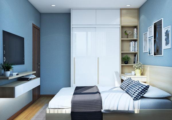Phòng ngủ căn hộ chung cư Bcons suối tiên loại C