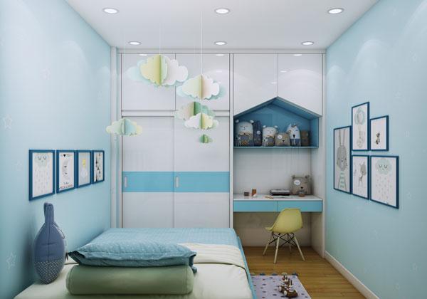 Phòng ngủ em bé căn hộ bcons suối tiên loại B