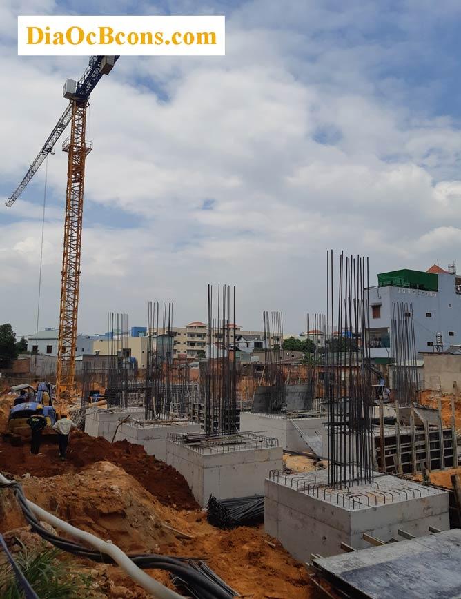 Hoàn thành hệ thống móng dự án Bcons Suối Tiên