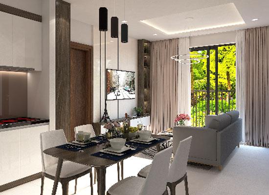 Nội thất nhà mẫu căn hộ Bcons Suối Tiên hiện đại