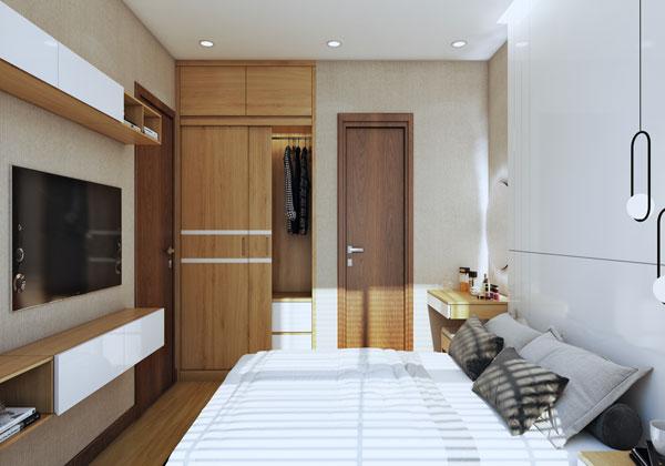 Phòng ngủ chủ nhà Căn hộ chung cư Bcons suối Tiên loại B