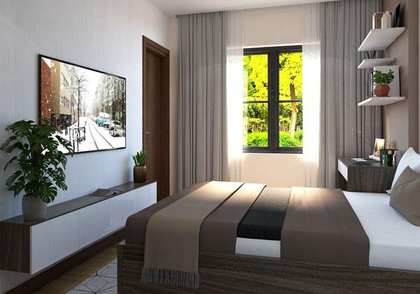 Phòng ngủ 1 căn hộ Bcons suối tiên loại A