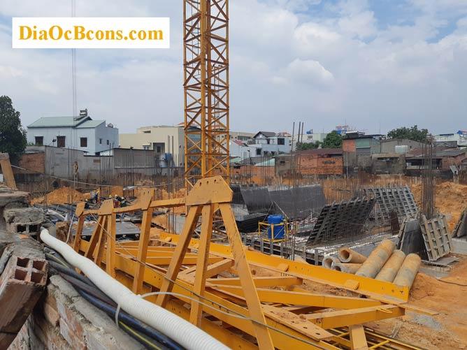 Hình ảnh toàn cảnh hệ thống móng dự án Bcons Suối Tiên
