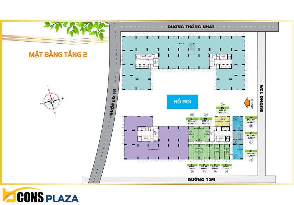 Mat Bang Tang 2 Bcons Plaza