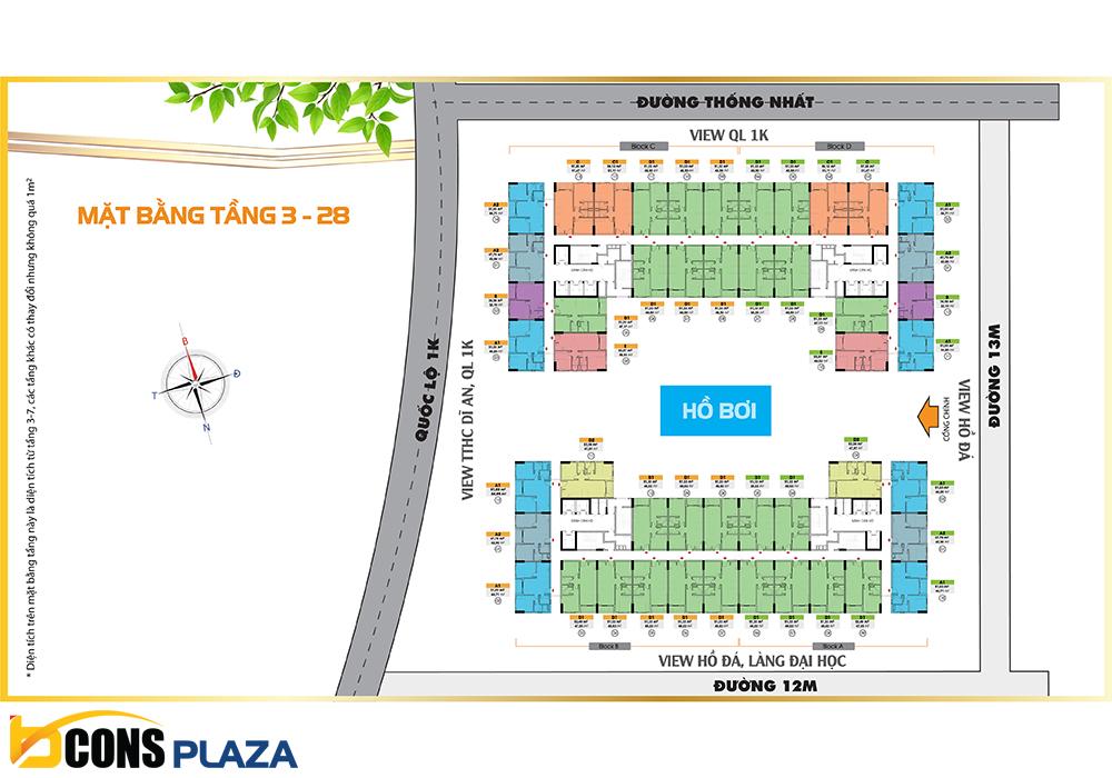 Mat Bang Tang 3 Bcons Plaza